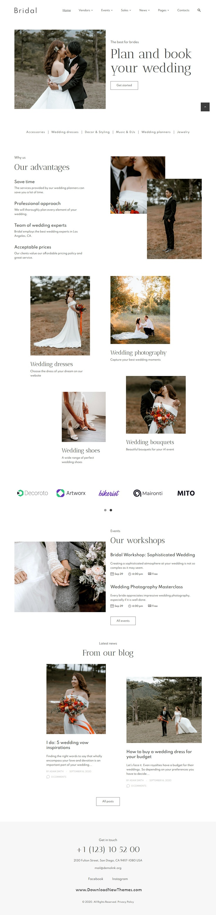 Wedding Planner and Photography Template
