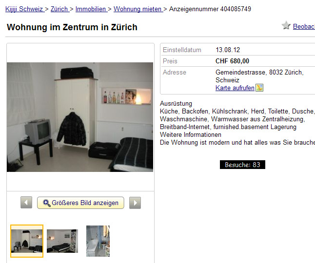 wohnung im zentrum in z rich gemeindestrasse 8032 z rich schweiz. Black Bedroom Furniture Sets. Home Design Ideas