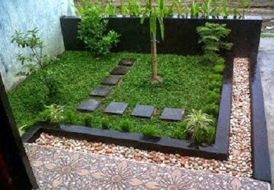 Gambar taman depan rumah minimalis untuk lahan sempit
