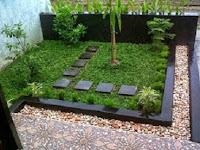 Taman depan rumah minimalis untuk lahan sempit