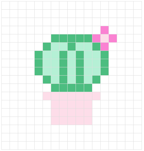 Crochet play cube, cactus cube: cross stitch pattern | Happy in Red