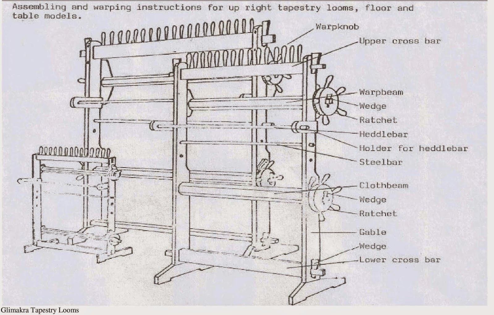 Diagram Of Weaving Loom Ford Tfi Distributor Wiring Rebecca Mezoff Tapestry Artist Which Is