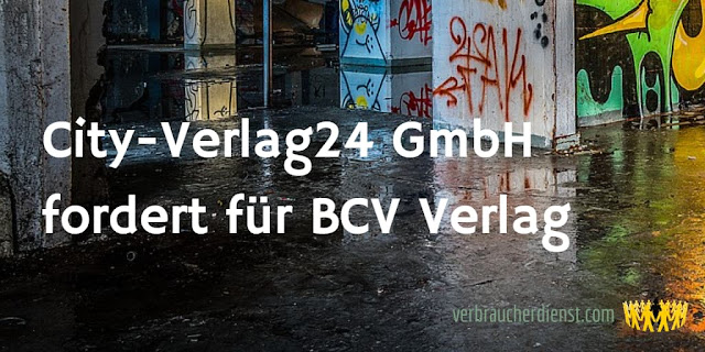 Titel: City-Verlag24 GmbH fordert für BCV Verlag