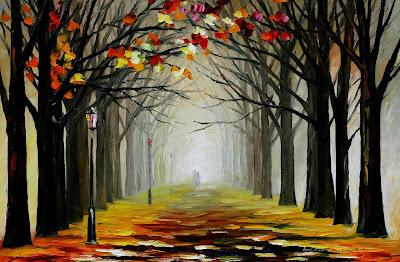 pintura-de-un-paseo-entre-arboles-en-invierno