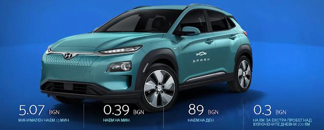 spark -22% намаление на наем на електрически автомобили София