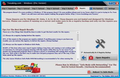 Windows Repair Pro Menu Screenshot