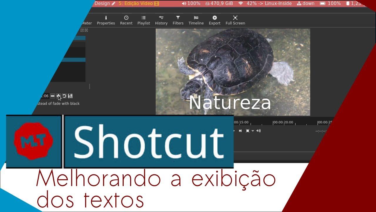 Imagem de capa do Post: Melhorando a apresentação do texto no Shotcut