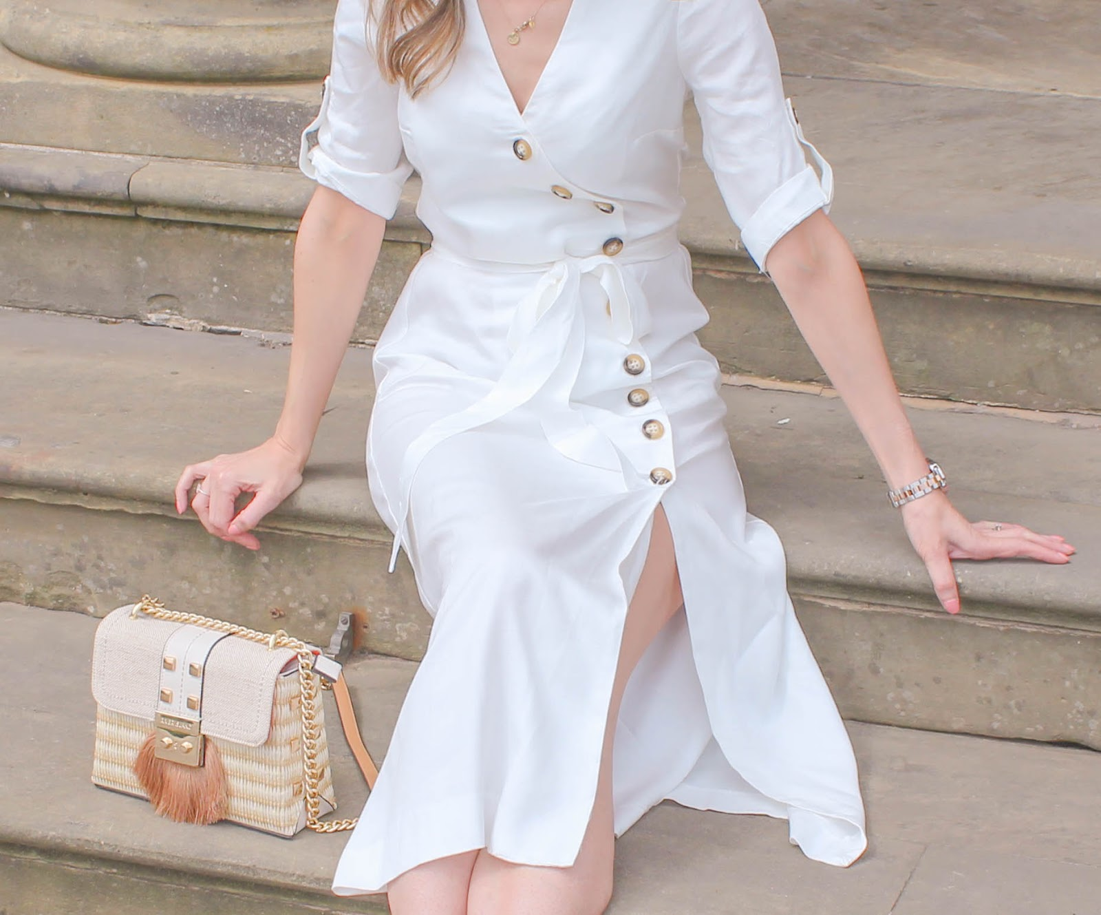 How to accessorise a white summer dress