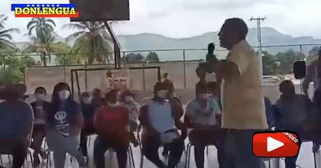 Dirigente Chavista murió de infarto mientras daba un discurso frente a un grupo de marginales del PSUV