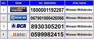rekening resmi de nature indonesia