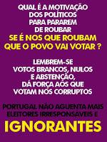 corrupção, abstenção apodrecetuga, eleições voto branco