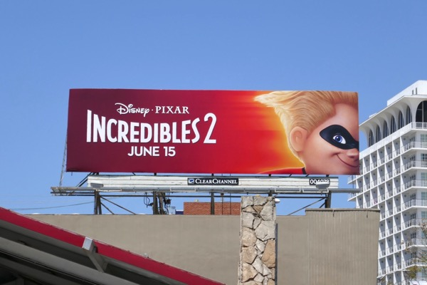 Dash Incredibles 2 film billboard