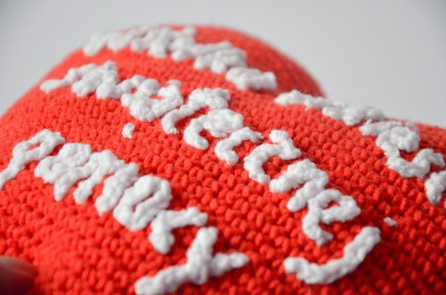 Krawka: Red heart pillow made for charity WOŚP (Wielka orkiestra świątecznej pomocy )