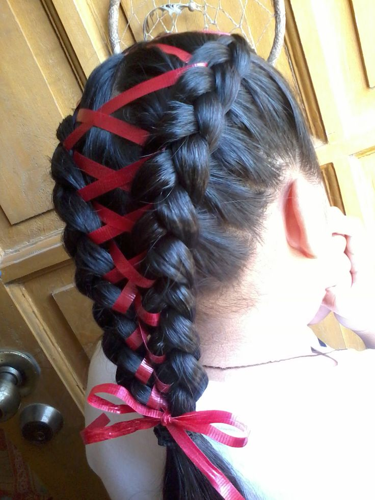 Pretty Braids with Ribbons! - The HairCut Web