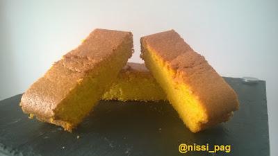 Una ració de postre del nostre pastís de pastanaga