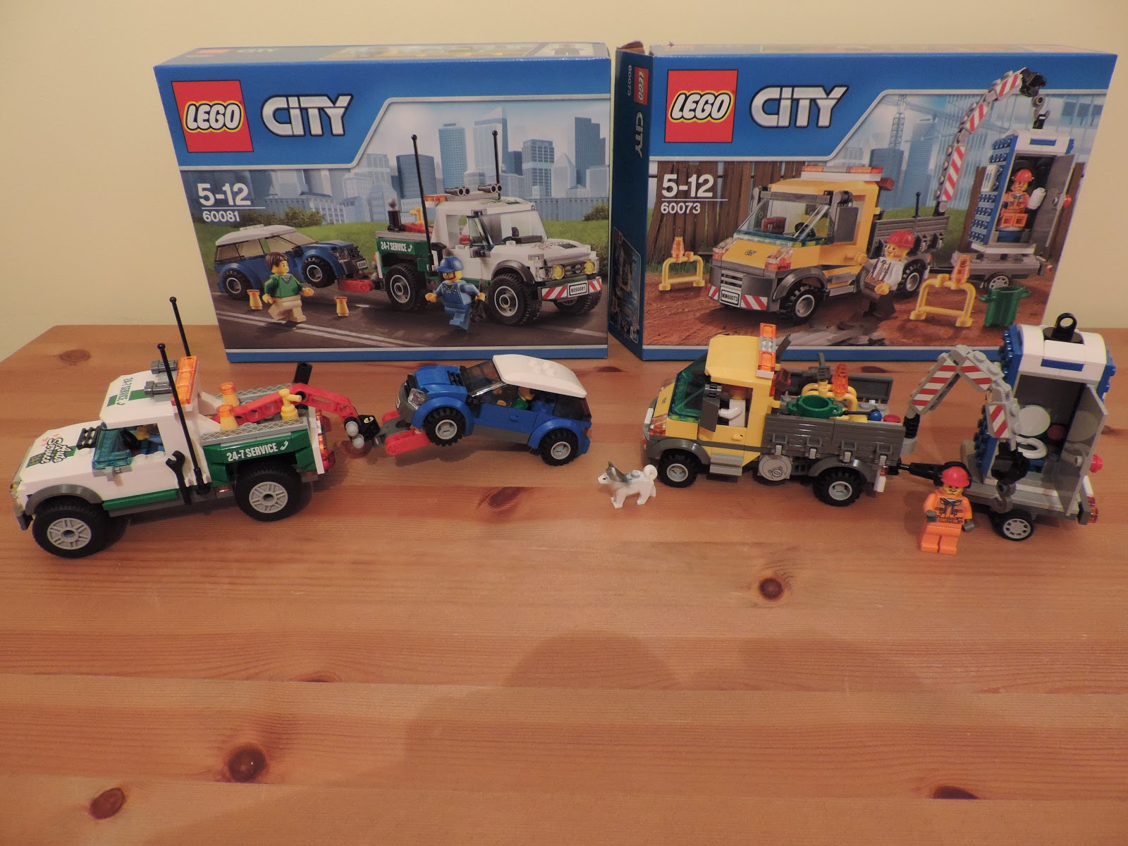 lego city council work truck with portable toilet on trailer 60073