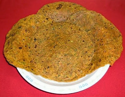 Aloo gobi paratha ready to serve