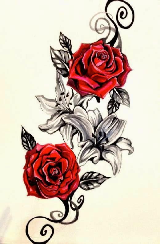 imágenes utilizadas para el tatuaje tienes que elegir el color de tu rosa con mucha atención teniendo estos detalles en cuenta; y saber que tu rosa
