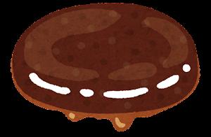 ハンバーガーの具材のイラスト(照り焼きハンバーグ)
