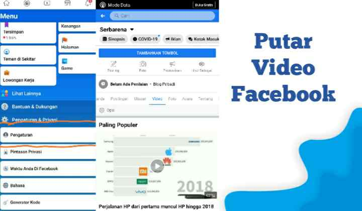 Cara Mesetting Memutar Otomatis Video di Facebook, Habisin Kuota