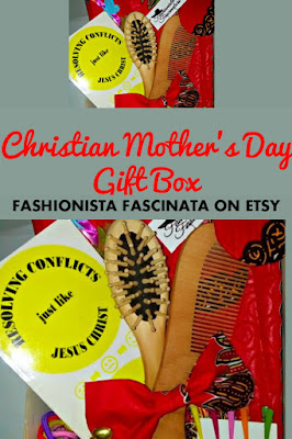 Christian Gift Box for Mothers Day with Natural Hair Accessories from Fashionista Fascinata on Etsy
