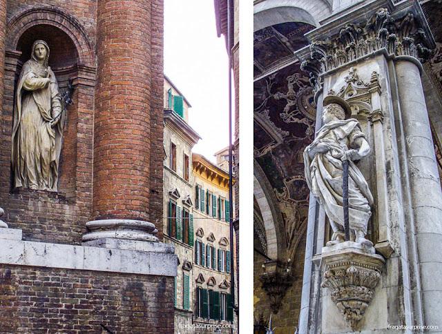 Decoração das fachadas de Siena, Itália