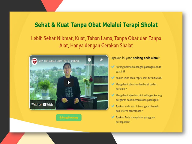 Training Terapi Gerakan Sholat untuk Kesehatan Alat Vital di Banten