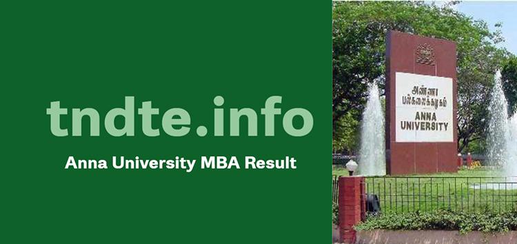 Anna University MBA Result 2020