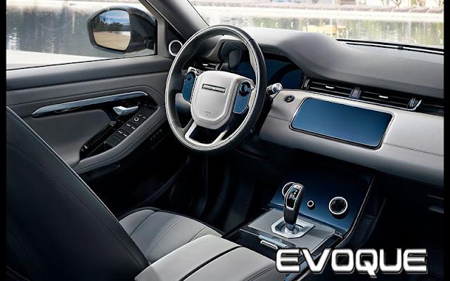Range Rover Evoque sử dụng tới 5 loại chất liệu khác nhau trên vô lăng