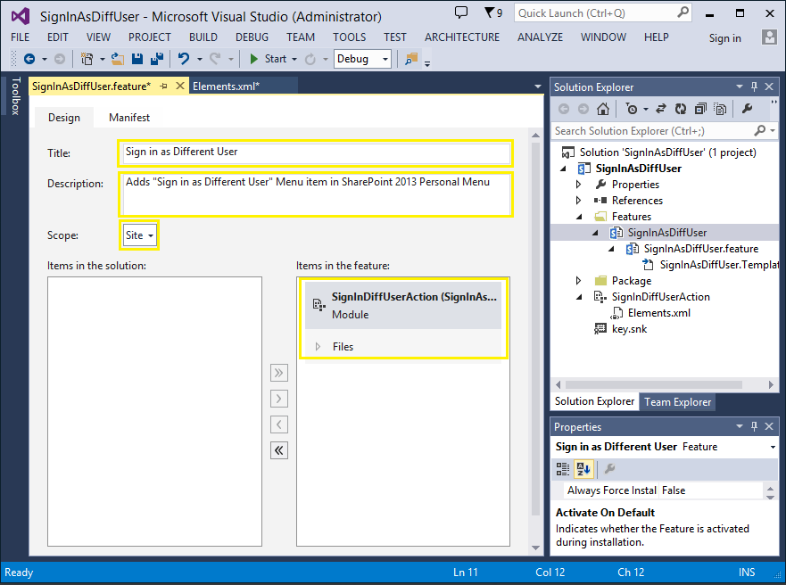 add sign in as different user in sharepoint 2013