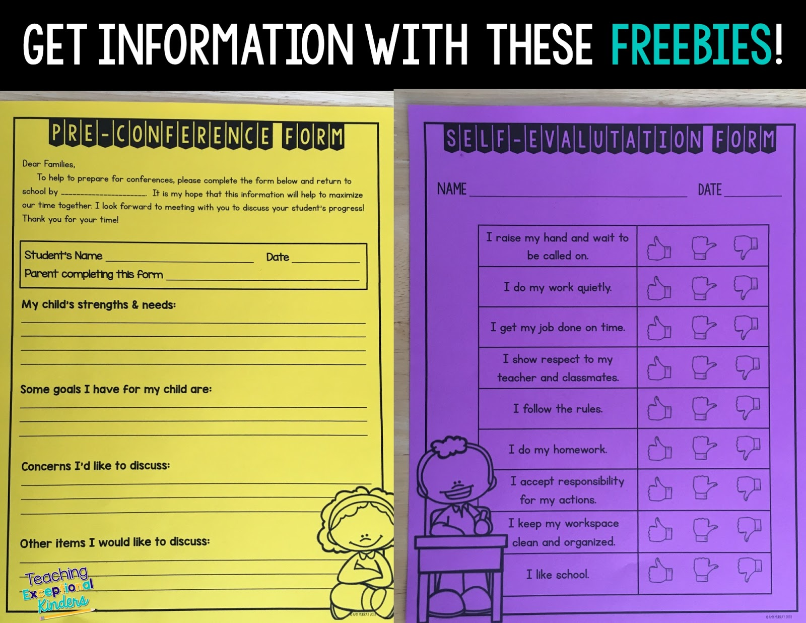 It's just a photo of Printable Parent Teacher Conference Forms throughout student conferencing