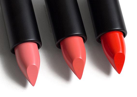 MUFE Artist Rouge Creme Lipsticks Review C302 C303 C304
