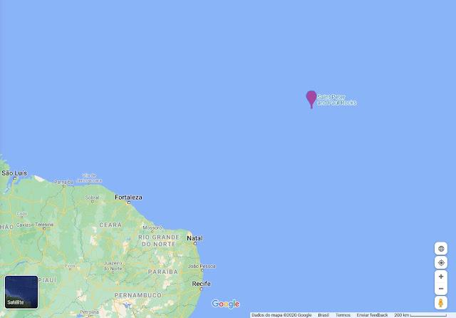 Localização do Arquipélago de São Pedro e São Paulo
