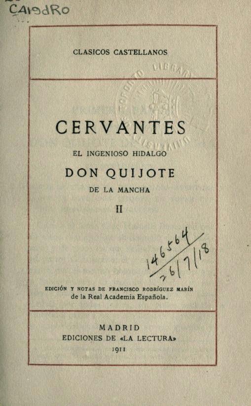Don Quijote tomo II