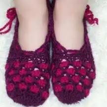 Pantuflas a Crochet