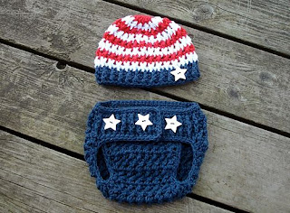 Stars & Stripes Diaper Cover pattern by Crochet by Jennifer
