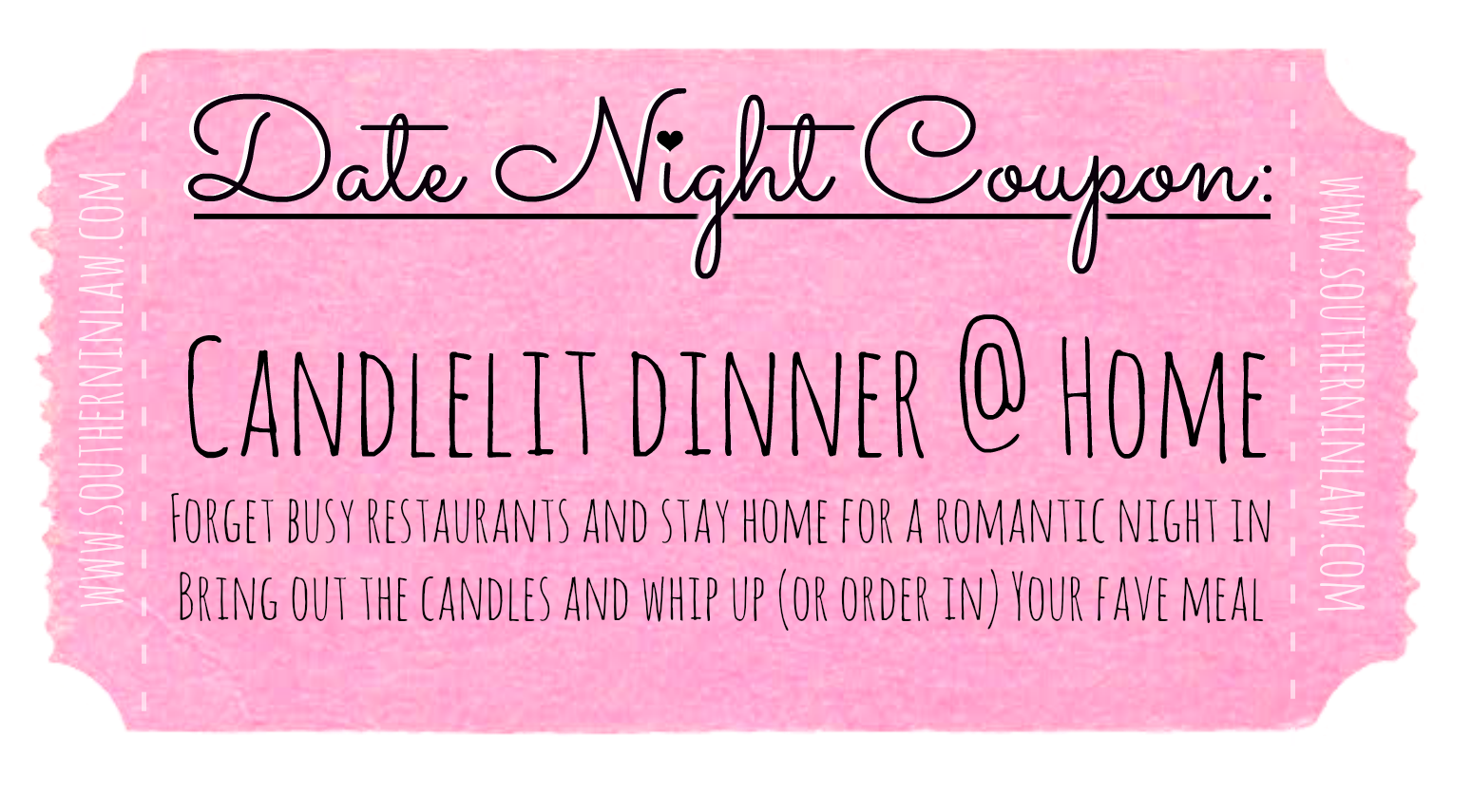 Affordable Date Night Ideas - Date Ideas Coupons - Have a Candelit Dinner at Home