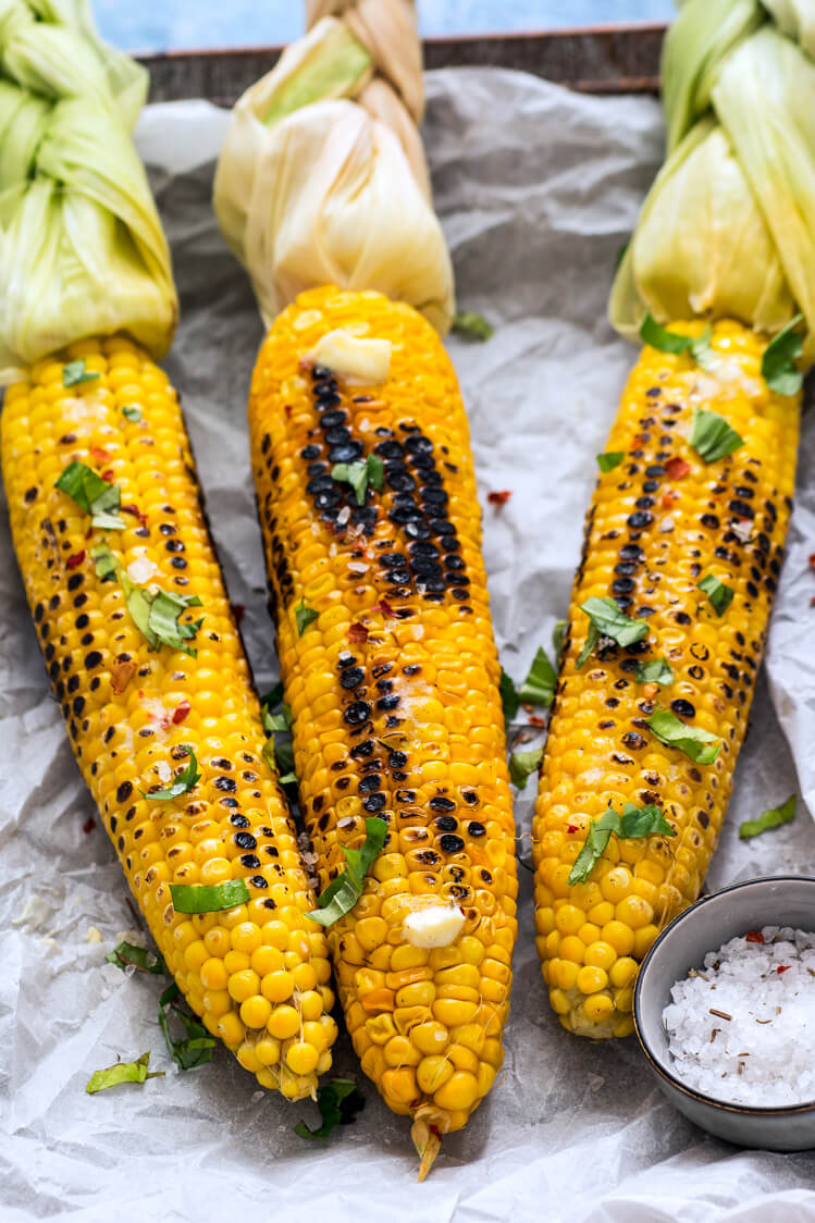 Corn on a cob