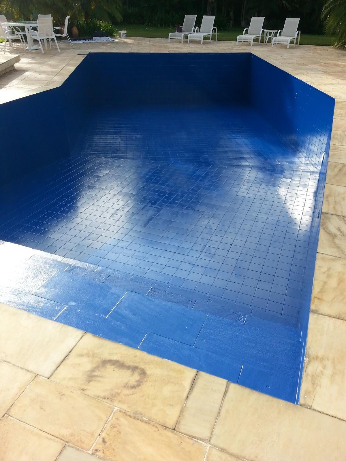 Pintura piscina tinta p u ou epoxi 05 anos de garantia - Pintura de piscina ...