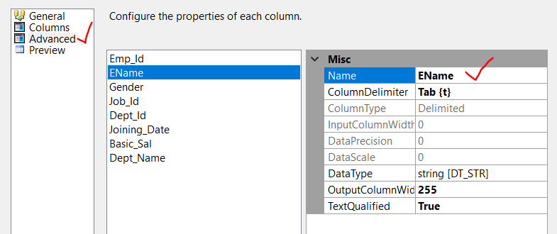 how to create tab delimited text file