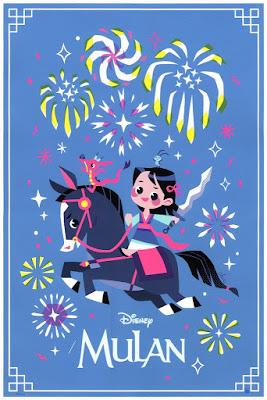 Mulan Screen Print by Chie Boyd x Cyclops Print Works x Disney