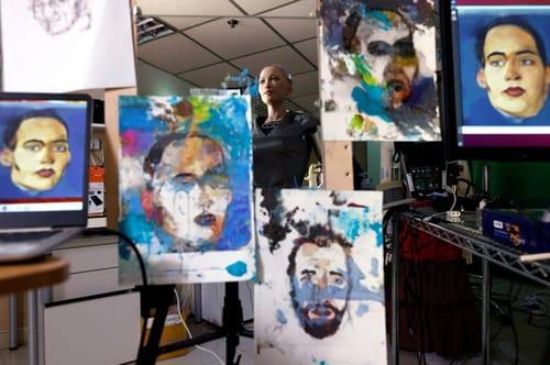 Robot Sophia sells digital artworks under the name NFT