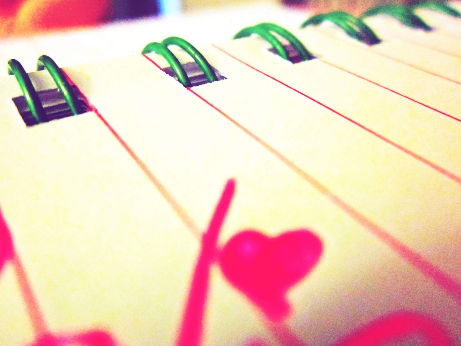 Writing Letters to the Universe Notepad With Pink Pen Ink Heart on Paper
