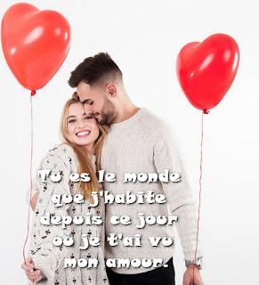 Messages d'amour en français