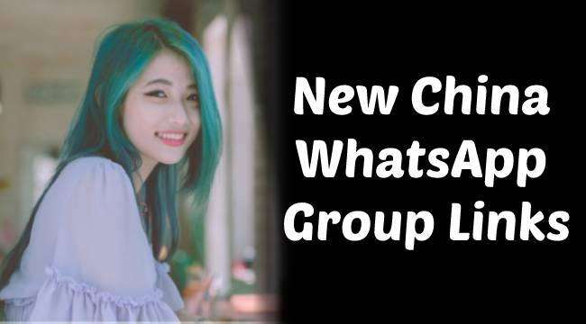 China WhatsApp Group invite links