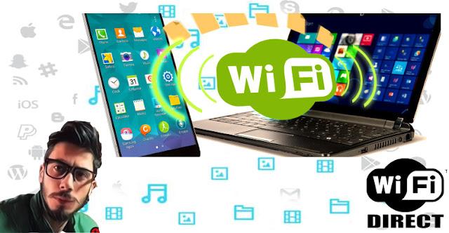 كيفية استخدام واي فاي دايركت Wi-Fi Direct في نقل الملفات من جهاز الكمبيوتر الى الهاتف المحمول والعكس