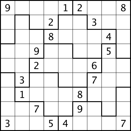 It's just an image of Obsessed Irregular Sudoku Printable