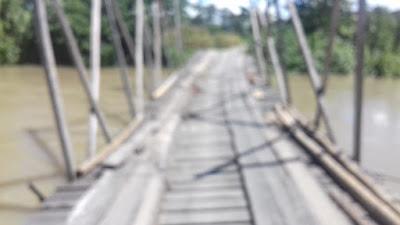 Masyarakat Desa Pombakka Merindukan Pembangun Jembatan Penghubung Layak Pakai