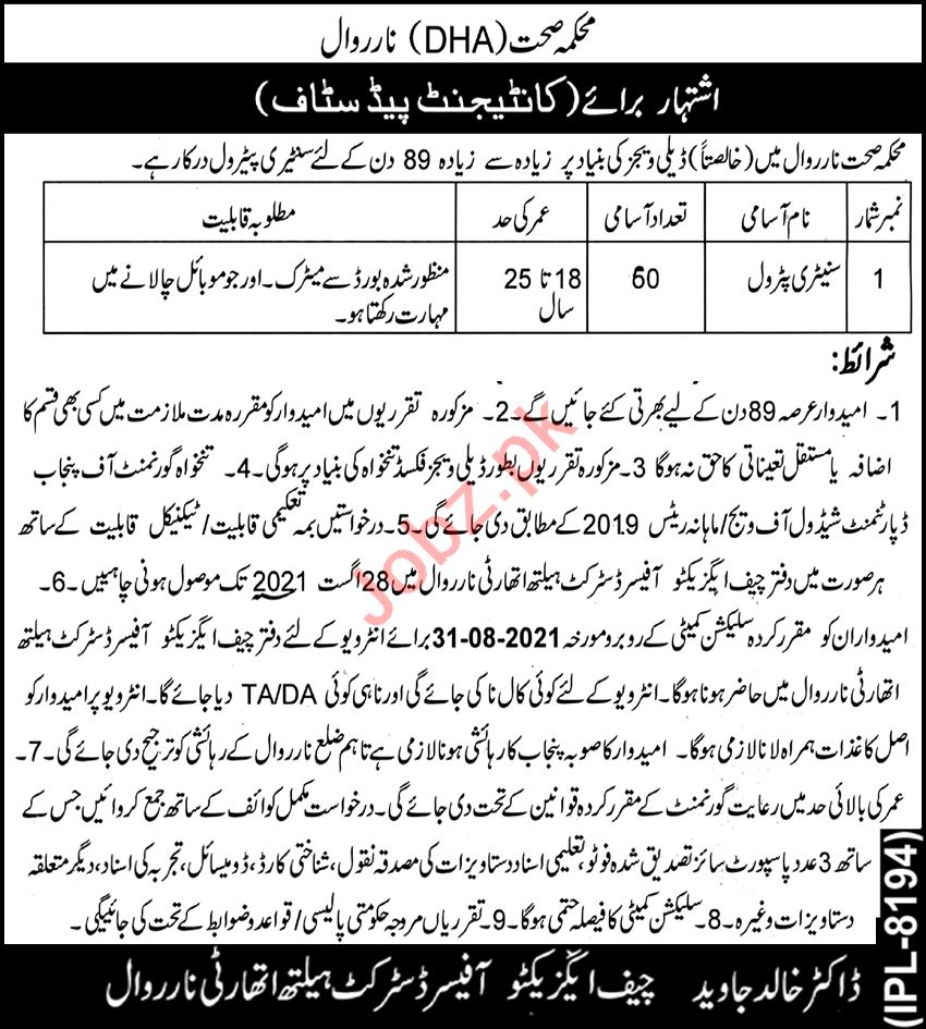 District Health Authority DHA ,Primary & Secondary Healthcare Department  Jobs 2021