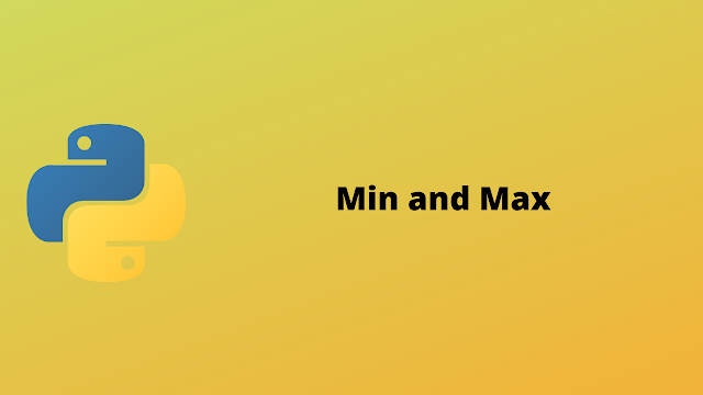 HackerRank Min and Max solution in python